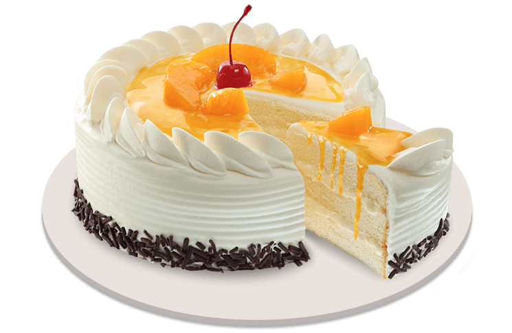 Cakes By Bakeshops Red Ribbon Cake Round Cake Peach Mango